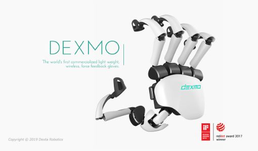 バーチャル物体の感触までも再現するグローブ型VRデバイス「Dexmo」、企業向けに量産化