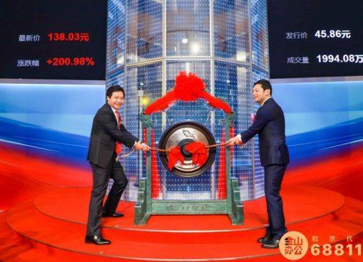 総合オフィスソフトを手がけるキングソフト子会社が上海科創板に上場、時価総額は9500億円