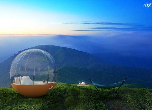 絶景に「球体」ホテル、IOT化したスマートハウス 山頂でも簡単設置