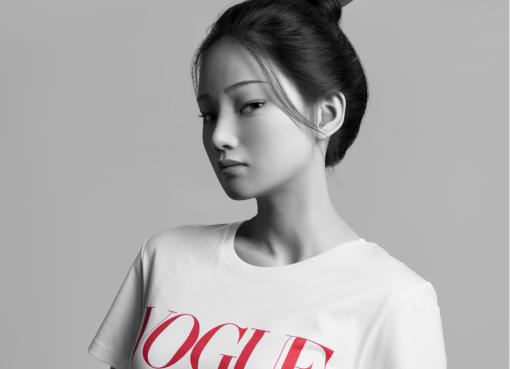 中国のバーチャルアイドルがデビュー ファッション誌「Vogue」などとコラボ