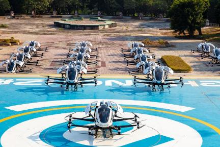 人を乗せるドローン開発の「EHang」、韓国で初の飛行デモンストレーション
