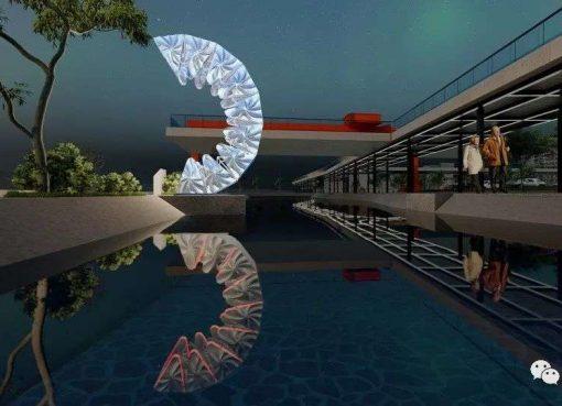 世界初!3Dプリンターで作られた伸縮自在の橋、上海にお目見え